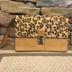 The Limited Leopard Clutch